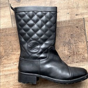 Chanel Quilted CC boots authentic